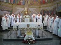 Eucaristia a la parròquia llatina de Gaza presideix el Nunci Mons. Antonio Franco, assiteix l'Arquebisbe d'Urgell Mons. Joan-Enric Vives