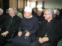 Mons. Joan-Enric Vives durant les reunions de treball en Terra Santa en la 12 visita de la Coordinadora de Bisbes