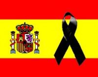 bandera espana luto