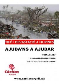 Campanya d'emergència a Càritas de suport a Filipines