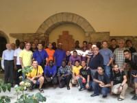 Joves religiosos escolapis visiten La Seu, seguint les petjades de St. Josep de Calassanç
