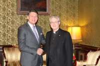 Comiat de l'ambaixador de Txèquia davant Andorra