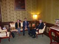 Mons. Joan-Enric Vives rep al Palau Episcopal els representats del Grup Socialdemòcrata al Parlament Andorrà