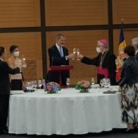Encuentro institucional y cena en honor de los Reyes de España