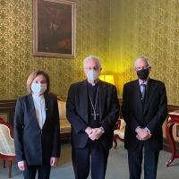 Visita de la Ministra de Turismo al Copríncipe episcopal