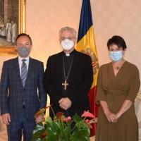 El Copríncipe Episcopal recibe al Jefe de Gobierno y a la Síndica General