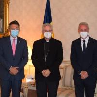 El Arzobispo-Copríncipe recibe la visita del Presidente y el Vicepresidente de la Diputación de Girona